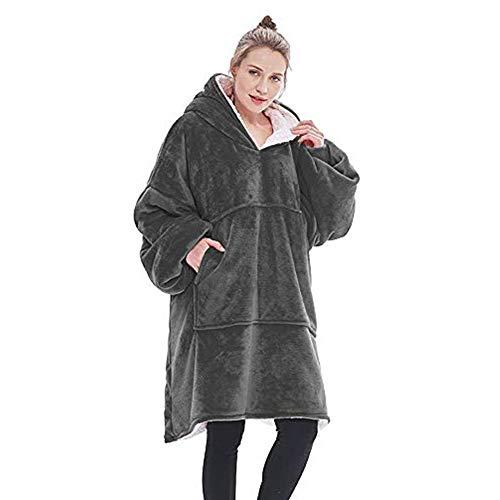 oversized wearable blanket sweatshirt comfortable sherpa giant hoodie