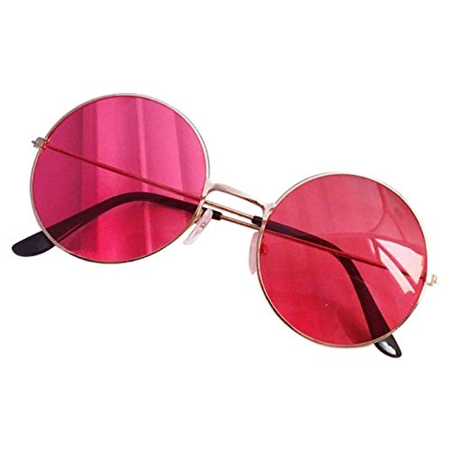 NJJX Gafas De Sol Redondas De Plástico Retro A La Moda Para Mujer, Gafas De Sol Con Montura De Gafas, Gafas De Conductor Con Montura Femenina, Accesorios Para Coche