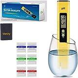 Voniry Ph Meter Digital PH Tester 0.01 PH High Accuracy Water Quality Tester