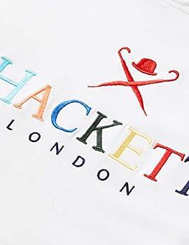 Hackett London Multi Letters HDY Y Sweat, Blanc (800), 13 Ans Fille