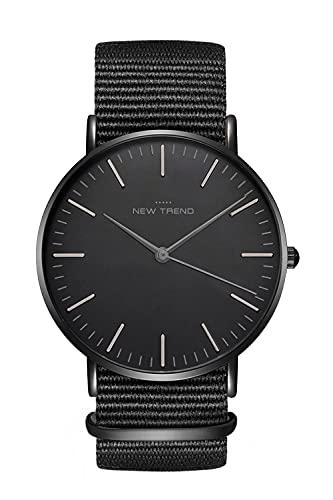 New Trend - Love for Accessories Damen Uhr analog Quarzwerk mit Nylon-Armband I7-NTP7-GG1D …
