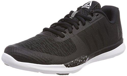 Reebok Sprint TR, Zapatillas de Deporte Mujer, Negro (Blk/Wht/Skull Grey 000), 36 EU