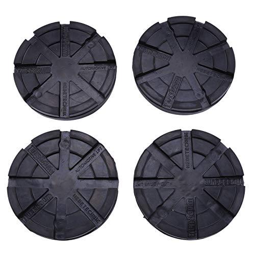 Trintion 4 Stück Universal Gummiteller Gummiauflagen Gummiaufnahmen Nussbaum Hebebühnen Satz Tools für Diverse Wagenheber Hebebühnen