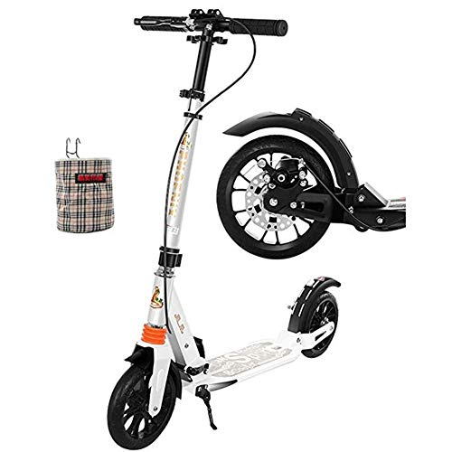 Sale!! Goquik Adult Pedal Scooter with Large Roulette Handbrake, Double Suspension Folding City Cart...