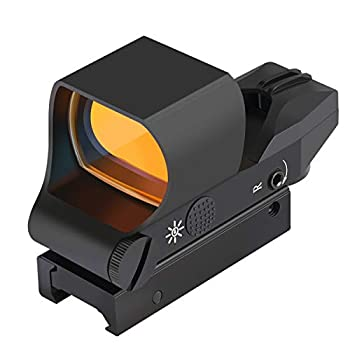 Feyachi RS-30 Reflex Sight Multiple Reticle System Red Dot Sight with Picatinny Rail Mount Absolute Co-Witness