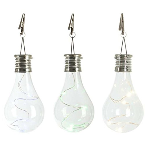 Hot Sale! Waterproof Solar Portable Outdoor Garden Camping Hanging LED Light Lamp Bulb for Home/Garden/Outdoor/Indoor (Clear)