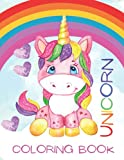 Unicorn Coloring Book for Girls 4-8: Cute Unicorn 50 Coloring Pages; Gift for Kids and Girls; 100 Total Pages; 8.5' x 11'