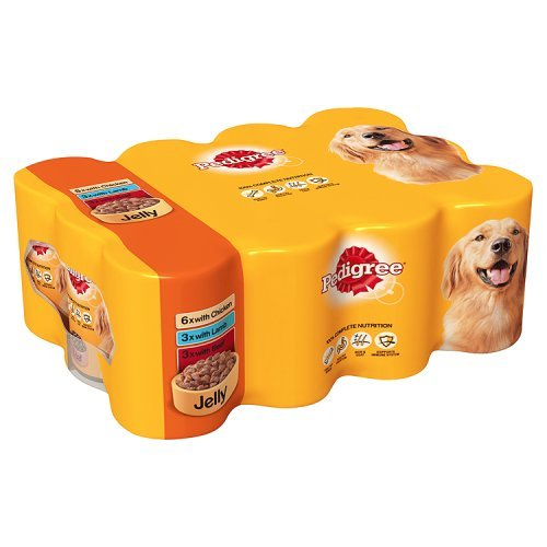 Pedigree Dog Tins Mixed Selection in Jelly, 12 x 385g