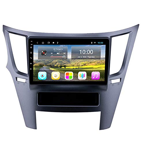 Android Autoradio Radio Double DIN Sat Nav para Subaru Outback 2009-2014 Navegación GPS 2.5D Pantalla Táctil Reproductor Multimedia FM Am DVD Video Receiver(Color:WiFi 2G+32G)