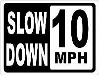 スローダウン10 MPH 金属板ブリキ看板警告サイン注意サイン表示パネル情報サイン金属安全サイン