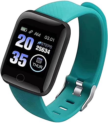 MARIJEE Reloj Inteligente de Fitness para Hombre y Mujer, Rastreador de Ejercicios Impermeable Pulsera con Pulsómetro Reloj Deportivo Rastreador de Actividad para Android y iOS