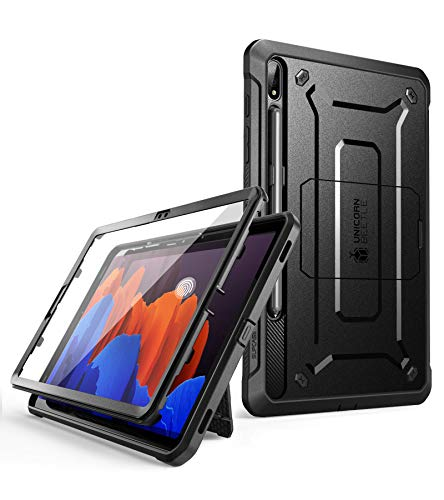 SUPCASE Unicorn Beetle Pro Series Case Designed for Samsung Galaxy Tab S7 Plus 12.4 inch 2020 Release, Support S Pen Charging with Built-in Screen Protector Full-Body Rugged Heavy Duty Case (Black)