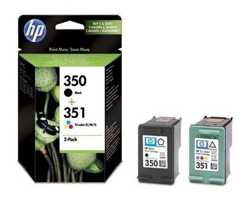 Cartucce d'inchiostro originali HP 350 nero/351, confezione da 2