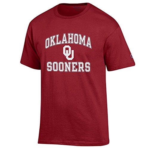 Champion NCAA Mens Shirt Short Sleeve Officially Licensed Team Color Tee, Oklahoma Sooners, Medium