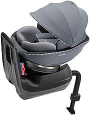 Combi(コンビ) シートベルト固定 チャイルドシート 新生児から4歳頃まで クルムーヴ スマート エッグショック JN-550 グレー 大型幌採用の回転式コンパクトチャイルドシート