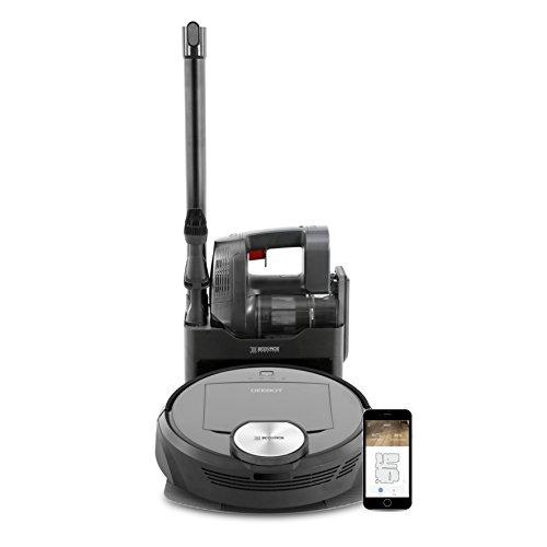 Ecovacs Robotics Deebot R98 Kabelloses 2-in-1 Reinigungssystem aus Saugroboter und Handstaubsauger, intelligente Navigation und App-Steuerung, 50 Watt, schwarz