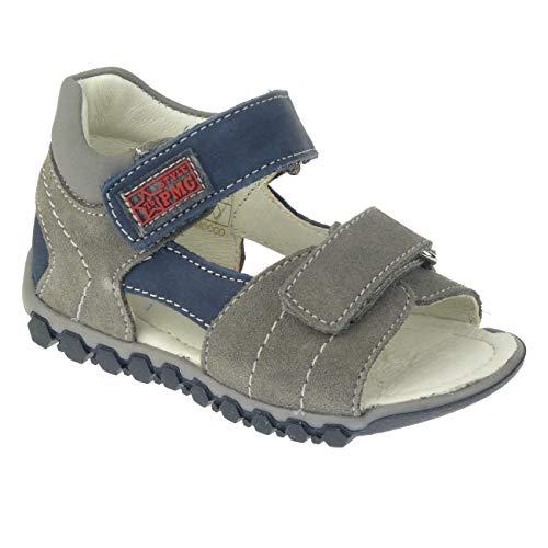 PRIMIGI PBN 14081 Leder Sandale Lauflerner knöchelhoch Klett Gr.20-26 grau EUR 23