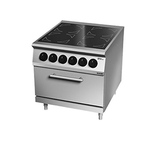 Cocina vitrocerámica 4 placas sobre horno eléctrico 80 x 90 x 90h.: Amazon.es: Hogar