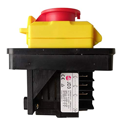 KEDU KJD11 8-polig wasserdichte elektromagnetische Schalter JD3 Relais Ein-Aus Druckknopf Schalter mit Stromausfall und Unterspannungsschutz für Werkzeuggeräte 230V 16A