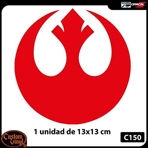 Custom Vinyl Pegatina Alianza rebelde 13x13cm (Amarillo)