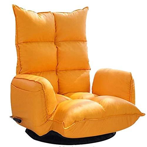 Diaod Ajustable Plegable sofá Perezoso Piso Silla del Ocio con sofá Cama reclinable y Almohadas giratoria Butaca de Juego, cómodo Acolchonadas Volver