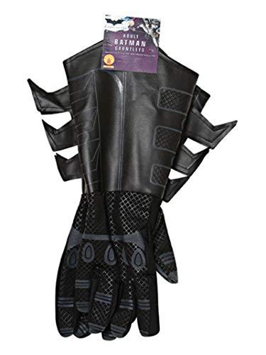 Rubie's Offizielles Batman Handschuhe für Erwachsenen-Kostüm, Einheitsgröße, Schwarz