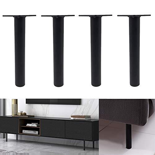LNX Mesa de café Pierna de Soporte Negro Patas de Muebles (4-8 Pulgadas) Patas del sofá Patas de Repuesto para Gabinete de TV Escritorio Cama Bricolaje - Moderno Metal Hierro
