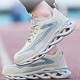 HOUJIA Zapatos de Trabajo,Anti-Rotura y Anti-pinchazos Botas de Seguridad Transpirables Ligeras Hombres Mujeres Zapatillas de Trabajo Punteras de Acero Zapatillas Deportivas Calzado de construcción