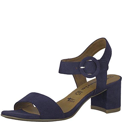 Tamaris 1-1-28324-20 Damen Sandale, Sandalette, Sommerschuhe für die modebewusste Frau blau (Navy), EU 38
