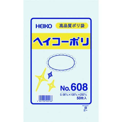 シモジマ HEIKO ポリ規格袋ヘイコーポリNo.608紐なし 006619800
