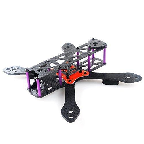 Crazepony Martian II RX255 FPV Racing Drone Carbon Fiber Quadcopter Frame Like QAV250 etc (4MM)