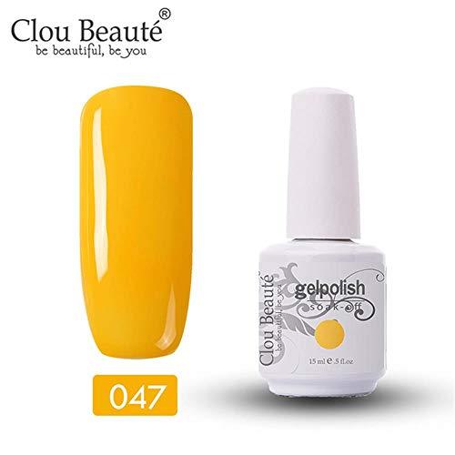 Clou Beaute Gelpolish 15ml Soak Off UV Led Gel Polish Lacquer Nail Art Manicure Varnish Candy Yellow 11047