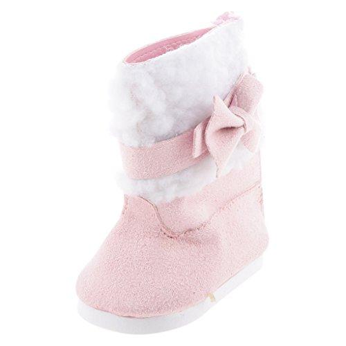 FLAMEER Fashion Pink Schuhe Stiefel für 18 Zoll Mädchen Puppen Kleidung Zubehör