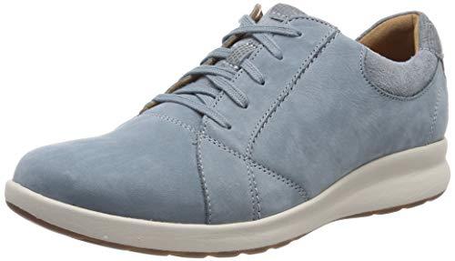 Clarks Un Adorn Lace, Zapatos de Cordones Derby Mujer, Azul (Blue Grey-), 36 EU