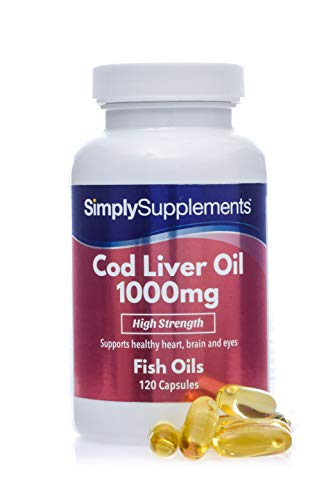 Cod Liver Oil 1000mg 120 Capsules | Rich in Omega 3 Fatty Acids | High Quality | 100% Money Back Guarantee | Manufactured in The UK