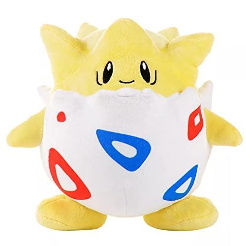 WLHWLH 20 cm / 7,8 Pulgadas, Lindo Juguete de Peluche Pokemon Togepi, muñeco de Peluche Suave de Anime, Almohada de Felpa Regalo para niños