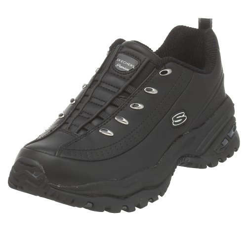 Skechers Sport Women's Premium-Premix Slip-On Sneaker, Black, 9.5 B(M) US