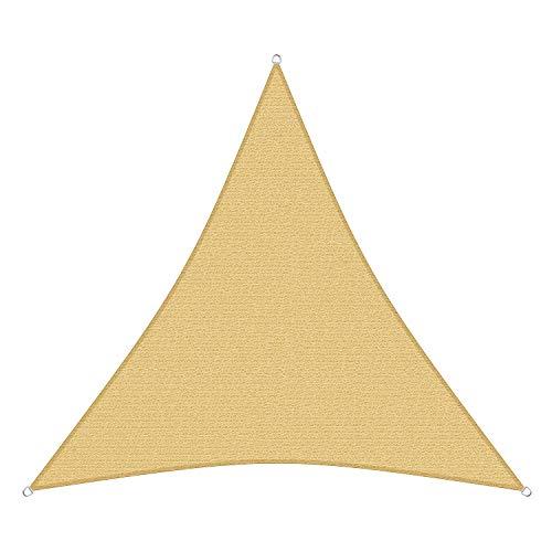 sunprotect 83221 Professional Sonnensegel, 3,6 x 3,6 x 3,6 m, Dreieck, Wind- & wasserdurchlässig, beige