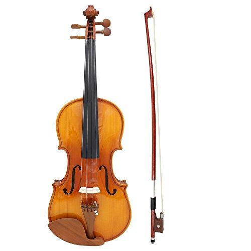 ammoon 初心者セット 4/4 バイオリン ヴァイオリン 気軽に演奏 バイオリンケース付き
