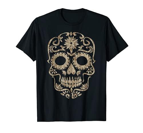 Cool Desert Camo Camuflaje de calavera de azúcar Dia de Los Muertos Camiseta