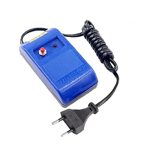 Montre électrique professionnel DemagneTerzer Outils de réparation Démagnétisation Dispositif (bleu) (fiche UE)