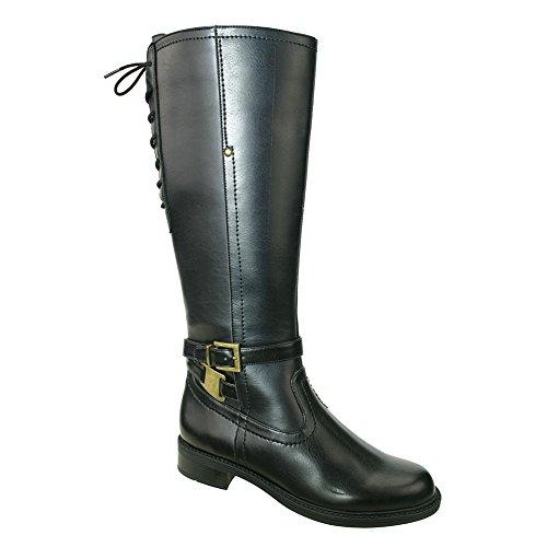 David Tate Women's Valley 18 Wide Calf Boot,Black PU,US 6 M