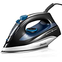 DECEN 1400W Steam Iron with Variable Temperature for Clothes