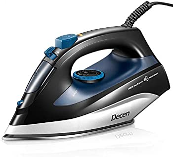DECEN 1400W Steam Iron with Variable Temperature