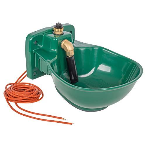VOSS.farming beheizte Tränke Thermo P25-230V plus mit Rohrbegleitheizung, 72 Watt, 230V Anschluss möglich, automatisches Thermostat, Frostschutz Pferde Rinder Pferdetränke Rindertränke