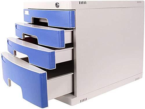 Archivador Archivador con cerradura 4 capas Cajón de almacenamiento de datos de escritorio Caja de almacenamiento de documentos de oficina en casa Organizador de cajón de escritorio de oficina(Upg