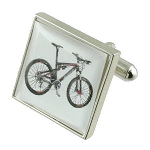 Select Gifts Collegamenti del bracciale argento Noleggio gemelli~Mountain Sports Bike inciso box personalizzato