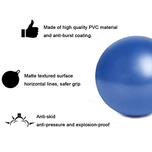 LMINWKA Small Exercise Ball - Mini Bender Fusion Ball for Stability Barre Pilates Yoga Core Training and Physical Therapy
