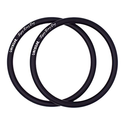 """UNISOAR 1 Pair 3"""" Safe and Tested Aluminum Rings DIY Your Baby Ring Sling Carrier (Black) with Gift"""
