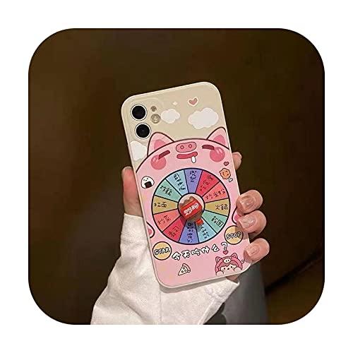 Funny Ruleta Reliever Stress teléfono caso para Iphone 12 11 Pro Max X Xr Xs Max 7 8 Plus a prueba de golpes Lucky Turntable cubierta Fundas-t para Iphone SE 2020